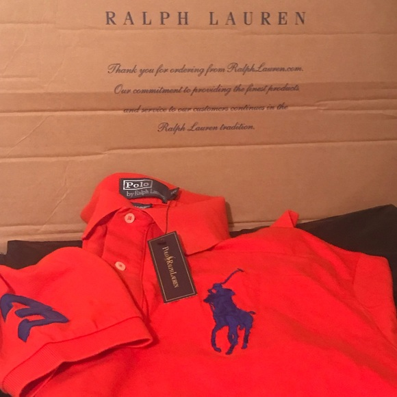 Ralph Pony Lauren Shirt Big Reddish Nwt Polo Orange tQCdsrh